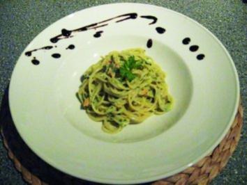 Rezept: Spaghetti mit Lachs und Spinat