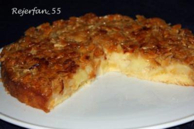 Rezept: Apfelkuchen mit Mandelbelag