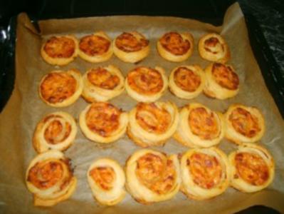pizzaschnecken mit blätterteig