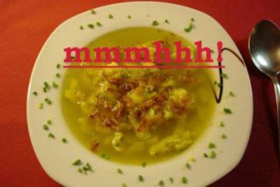 """Mein heutiges Frühstück """"Zwurlsuppe"""" - Rezept"""