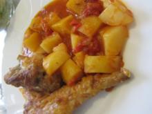 Conejo con Patatas  -  Hase mit Kartoffeln - Rezept