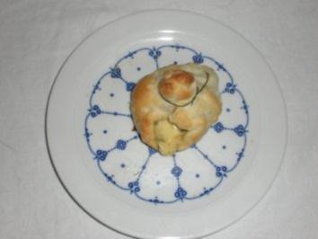 Blätterteigsäckchen mit Zuchini- Champignon Füllung - Rezept