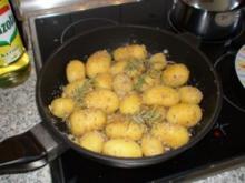 Rosmarinkartoffel gebraten mit Nüsskrumel - Rezept