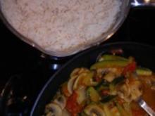 Leckere Gemüsepfanne mit Reis - Rezept