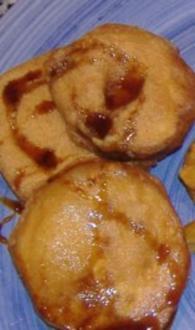 Fritierte Auberginen mit Miel de Cana - Rezept