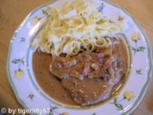 Kotelett mit Bratensoße - Rezept