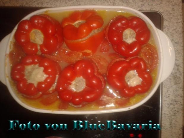 Gemüsegerichte: Brigittes gefüllte Paprikaschoten - Rezept