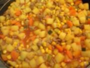 Bunte Kartoffel-Hack-Pfanne - Rezept