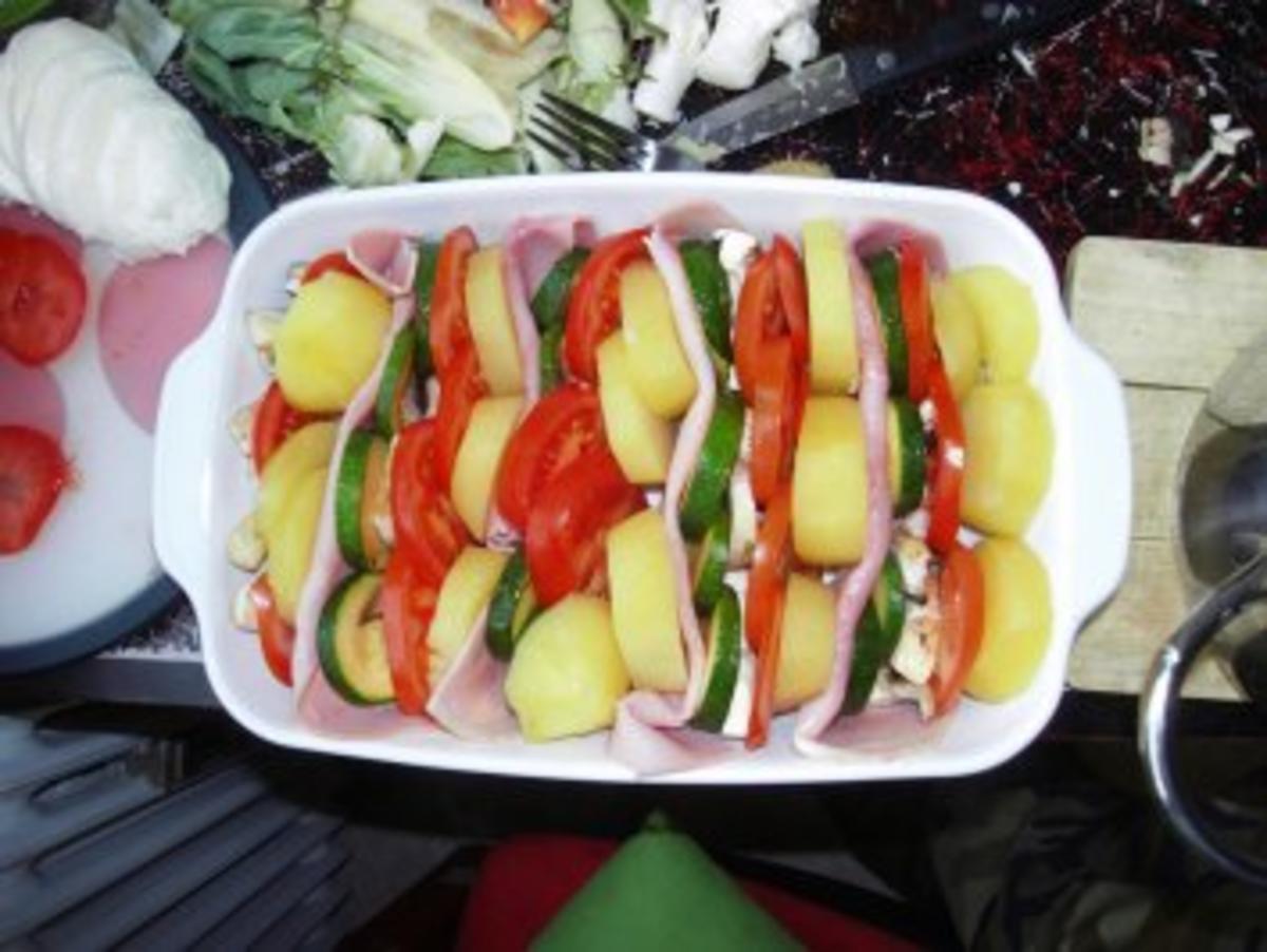 Bilder für Gemüseauflauf mit Schinken - Rezept