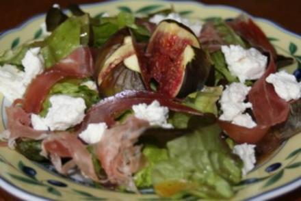 Salat mit warmen Feigen - Rezept