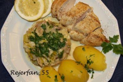 Porree-Pilzgemüse in Zitronensoße - Rezept