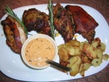 Spanferkel mit Mojo Picon und Röst-/Bratkartoffeln - Rezept