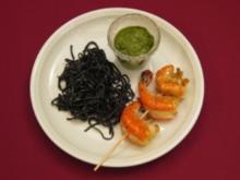 Kalte Pasta mit Rucola-Vinaigrette und Garnelen - Gerade gestrandet - Rezept