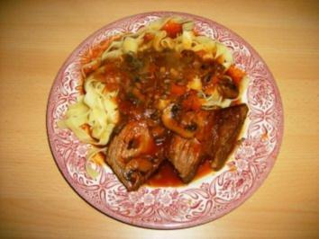 Rinderbraten mit Championsoße ala Kofin - Rezept