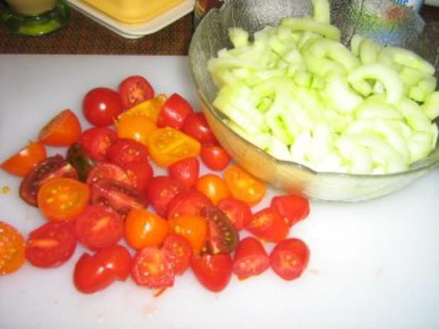 Lachssteaks auf Gurkengemüse mit Dillsauce überbacken - Rezept - Bild Nr. 3