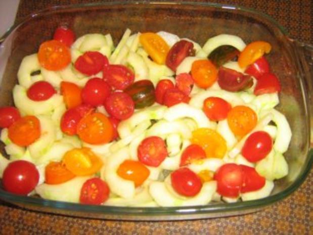 Lachssteaks auf Gurkengemüse mit Dillsauce überbacken - Rezept - Bild Nr. 6