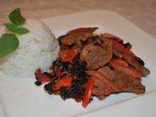 Wok-Ente mit Mangold - Rezept