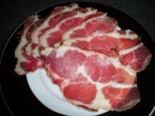 Rotweinschinken vom Schweinenacken - Rezept