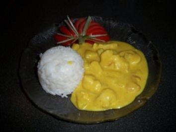 Putencurry mit Ananas und Kokosmilch - Rezept