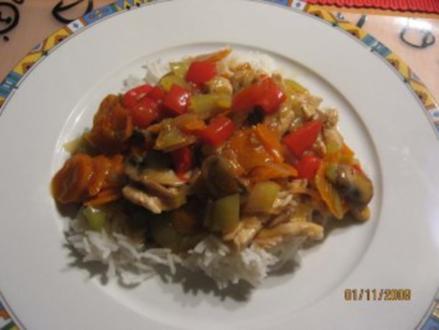 Mein Chop Suey mit Putenfleisch - Rezept
