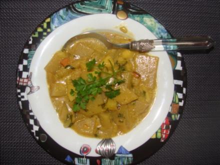 Suppe - Curry - Kohlrabi - Kartoffel - Apfelsuppe - Rezept