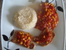 Fleischgerichte: Minutensteak mit Mais und Tomatenpaprika - Rezept