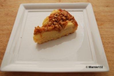 Apfelkuchen mit Walnuss-Calvados Krokant - Rezept