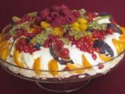Pavlova mit tropischen Früchten - Rezept