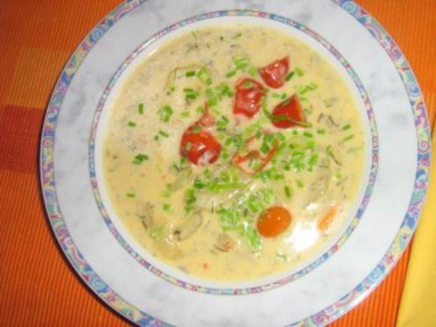 Gurken-Tomaten-Cremesüppchen - Rezept