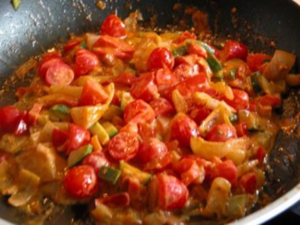 Schaschlikspieße mit Gemüse und Bulgur - Rezept - Bild Nr. 7