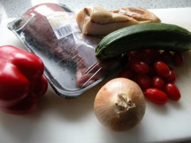 Schaschlikspieße mit Gemüse und Bulgur - Rezept - Bild Nr. 2