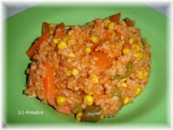 Hauptgericht deftig - Reistopf mit Fleischwurst - Rezept
