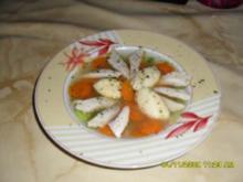Festtagssuppe mit Grießklößchen - Rezept