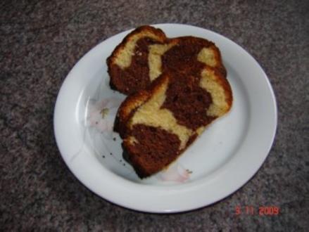 Kuchen + Torten : Schwarz-weißer Guglhupf - Rezept
