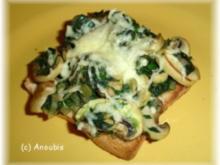 Hauptgericht vegetarisch - Knuspertoast mit Blattspinat - Rezept