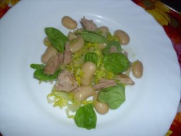 Weißer Bohnensalat mit Thunfisch - Rezept