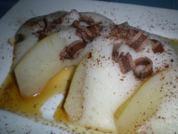 Beschwipste Birne mit Glühwein Zabaione - Rezept - Bild Nr. 5