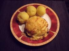 Überbackenes Schnitzel mit Birne - Rezept