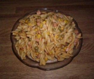 Mischgemüse-Nudelsalat - Rezept