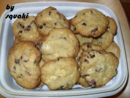 Cookies: Chocolate-Cranberry-Cookies - Rezept