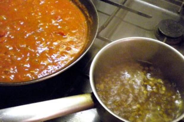 Linsen-Topfen-Laibchen mit Tomatensauce - Rezept - Bild Nr. 2