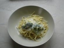 Spaghetti mit Broccoli-Mandel-Soße - Rezept