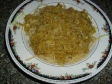 Spaghetti mit Kurkuma-Thunfisch-Sauce - Rezept