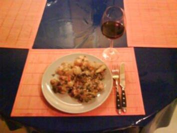 Kartoffeln: Kartoffelgratin mit buntem Mangold und Speck - Rezept