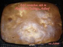 Hauptspeise süß: Apfel-Reis-Gries-Auflauf mit Eihaube überbacken - Rezept