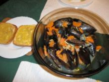 Miesmuscheln in Sherry - Rezept