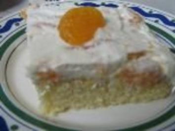 Mandarinen-Schmand-Schnitten - Rezept