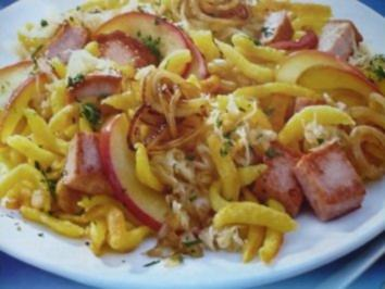 Sauerkraut - Spätzle - Pfanne - Rezept