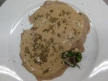Kalbsfleisch mit Thunfisch-Kapernsoße und schwarzem Trüffel - Rezept