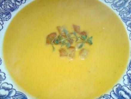 Butternutkürbis-Cremesuppe - Rezept